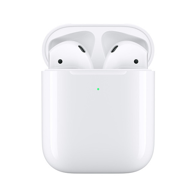 Apple – AirPods 2 In-Ear Bluetooth Headphones with Wireless Charging Case