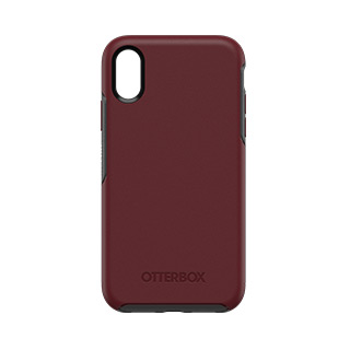 iPhone XR Otterbox Burgundy + Grey (Fine Port) Symmetry Series Case